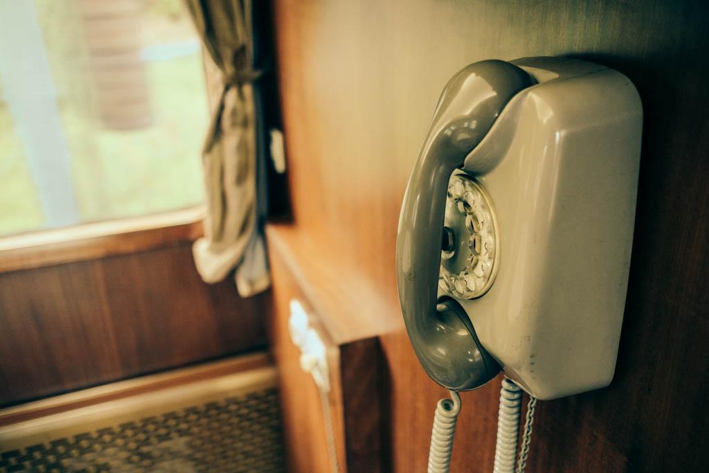 phone on Tito's Blue Train.
