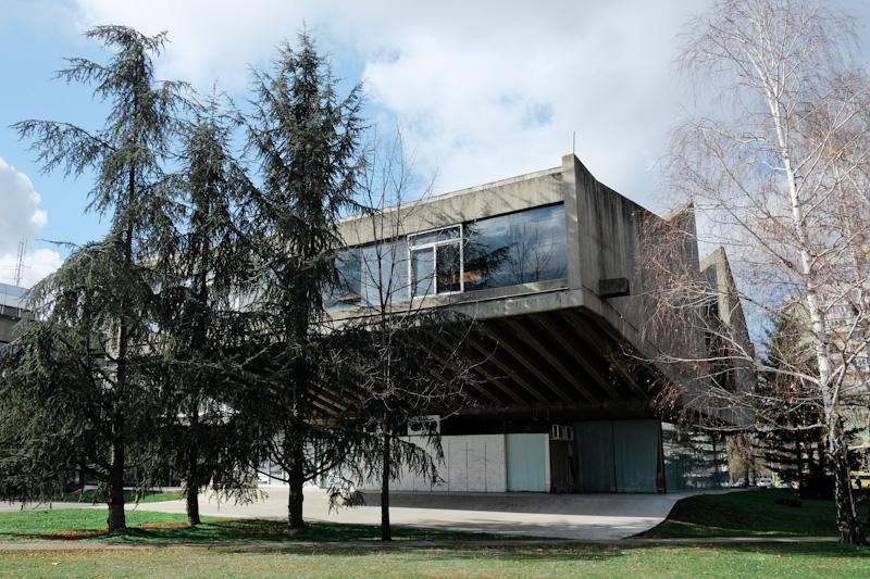 novi beograd town hall - communist architecture