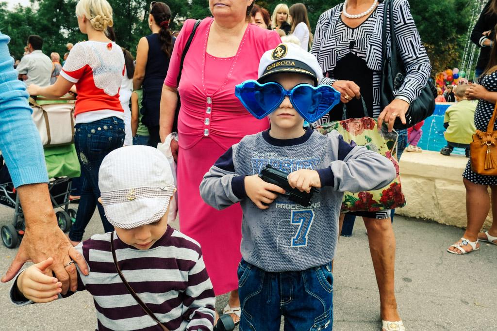 Kids with guns. Tiraspol, Transnistria.