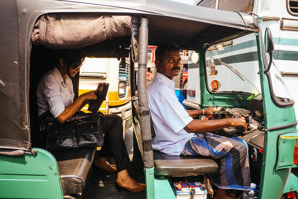 Tuk Tuk driver, Colombo, Sri Lanka.
