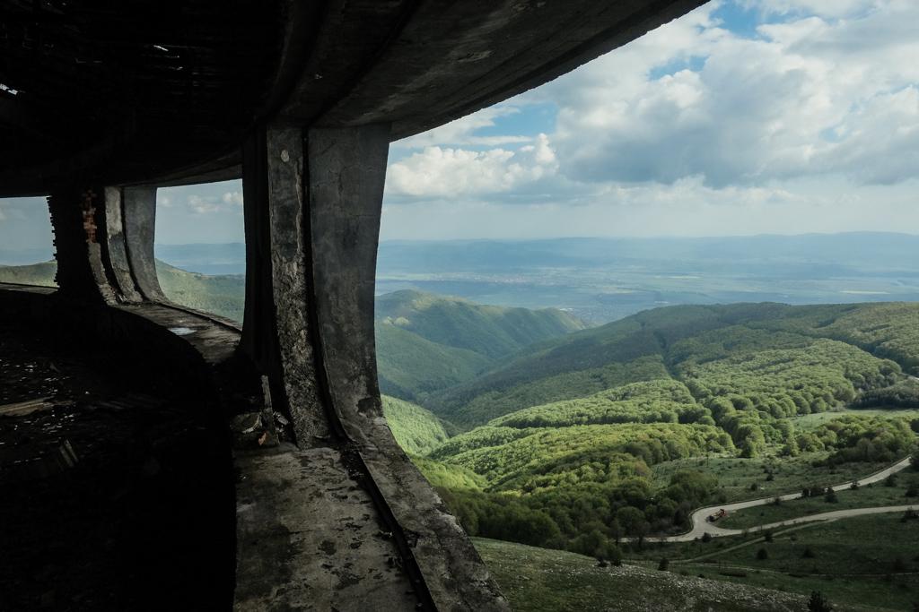 view from buzludzha bulgaria