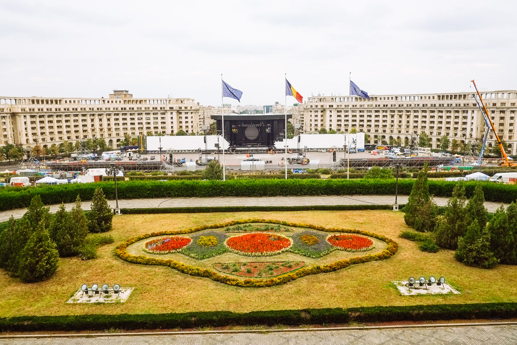 view from palace of parliament