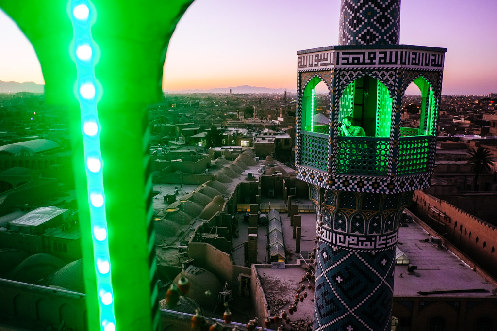 view minaret yazd
