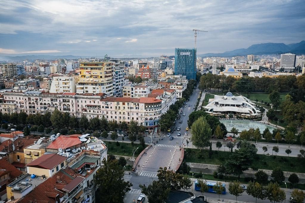 view of tirana albania