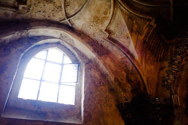 Nice window, sweet bone detail - Sedlec Ossuary