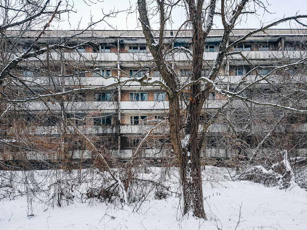 winter pripyat chernobyl