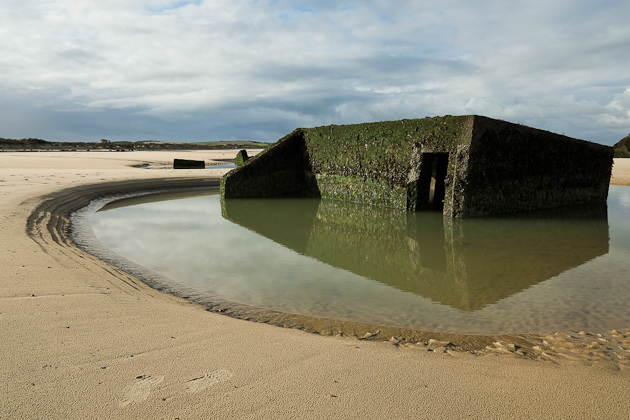 Sinking into the sand - German Bunker - Wissant France