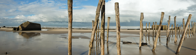 wissant france - beach panorama