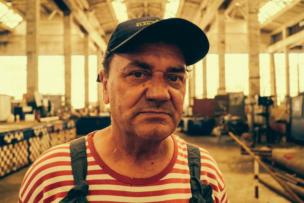 Croatian shipyard worker