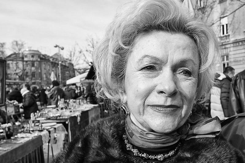 Lady at the Flea Market. Britanski Sqaure, Zagreb, Croatia.