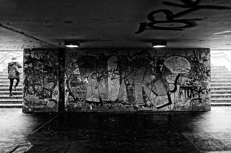 Subway architecture and graffiti, Zagreb
